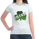 Green Shamrock Shamrock Jr. Ringer T-Shirt