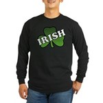 Green Shamrock Shamrock Long Sleeve Dark T-Shirt