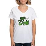 Green Shamrock Shamrock Women's V-Neck T-Shirt