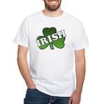 Green Shamrock Shamrock White T-Shirt