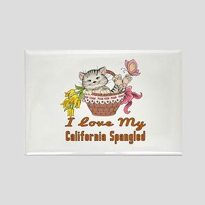 I Love My California Spangled Des Rectangle Magnet