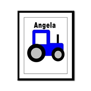 Angela - Blue Tractor Framed Panel Print