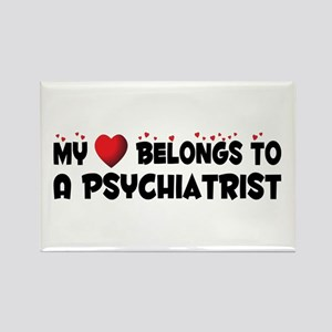 Belongs To A Psychiatrist Rectangle Magnet