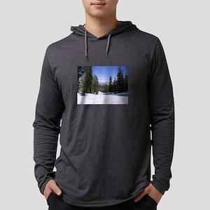 Mammoth Mountain, Blue Sky, Wh Long Sleeve T-Shirt