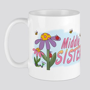 Silly Flowers Middle Sister Mug