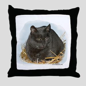 Jonesy the Chartreaux Cat Throw Pillow