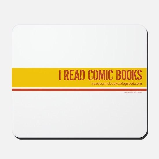 I Read Comic Books Mousepad