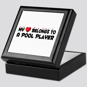 Belongs To A Pool Player Keepsake Box