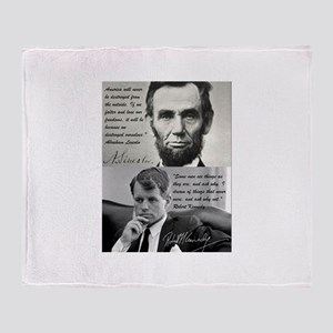 Abe and RFK Throw Blanket