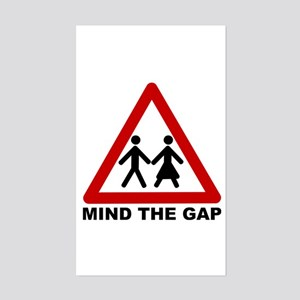 Mind the Gap Sticker -- The Sexes