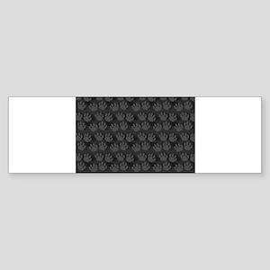 Trail of Black Paw Prints Bumper Sticker