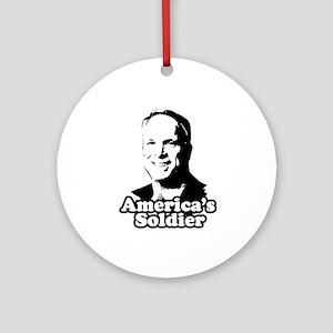 America's Soldier Ornament (Round)