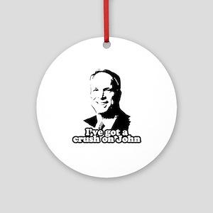 I've got a crush on John McCain Ornament (Round)