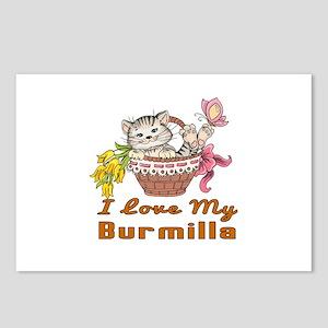 I Love My Burmilla Design Postcards (Package of 8)