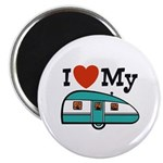 I Love My Trailer Magnet
