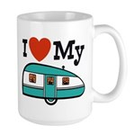 I Love My Trailer Large Mug