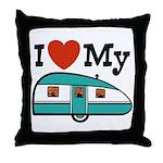 I Love My Trailer Throw Pillow