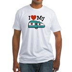 I Love My Trailer Fitted T-Shirt