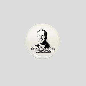 McCain: Senator, soldier, statesman Mini Button