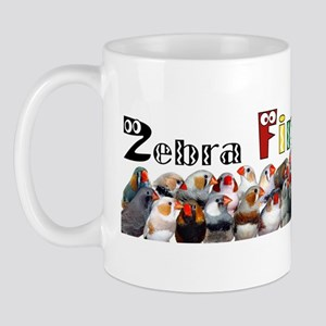 Zebra Finch Crazy Sticker Mugs