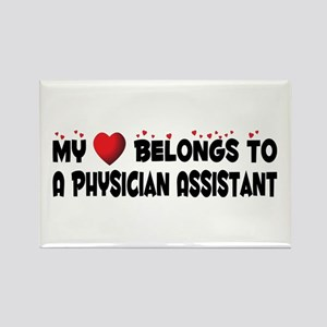 Belongs To A Physician Assistant Rectangle Magnet