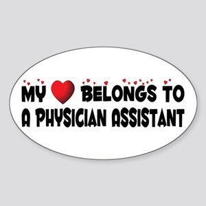 Belongs To A Physician Assistant Oval Sticker