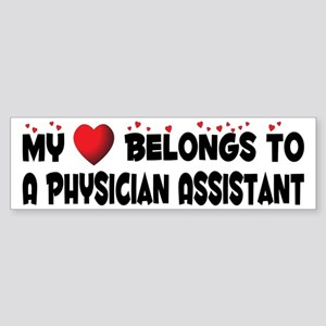 Belongs To A Physician Assistant Bumper Sticker