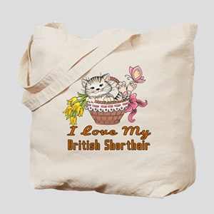 I Love My British Shorthair Designs Tote Bag