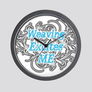 Weaving Excites me Wall Clock