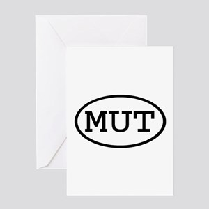 MUT Oval Greeting Card