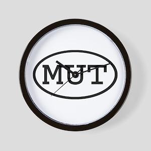 MUT Oval Wall Clock