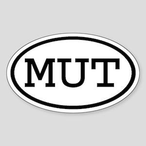 MUT Oval Oval Sticker