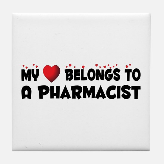 Belongs To A Pharmacist Tile Coaster