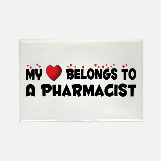 Belongs To A Pharmacist Rectangle Magnet