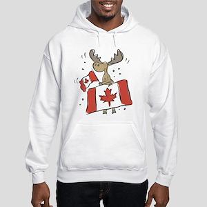 Canada Day Moose Hooded Sweatshirt