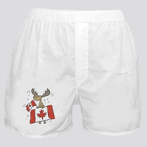 Canada Day Moose Boxer Shorts