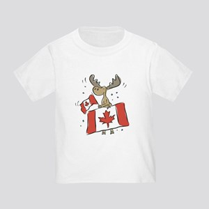 Canada Day Moose Toddler T-Shirt