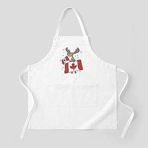 Canada Day Moose BBQ Apron