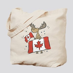 Canada Day Moose Tote Bag