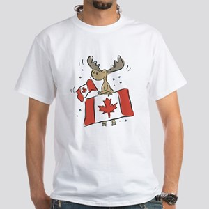Canada Day Moose White T-Shirt
