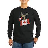 Canada day moose Long Sleeve Dark T-Shirts