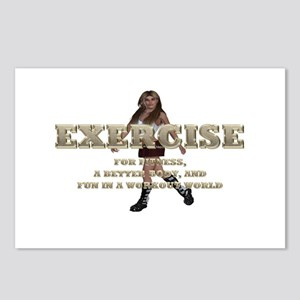 Exercise Slogan Postcards (package Of 8)