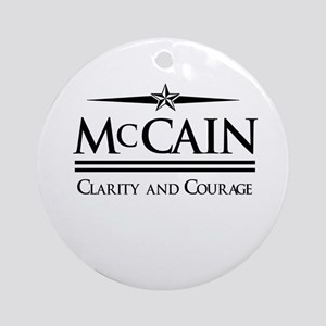 McCain / Clarity and Courage Ornament (Round)