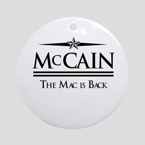 McCain / The Mac is back Ornament (Round)