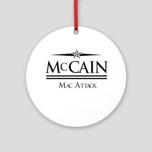 McCain / Mac Attack Ornament (Round)
