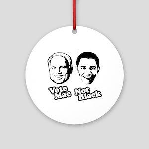 Vote Mac Not Black Ornament (Round)