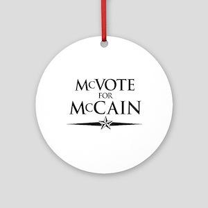 McVote for McCain Ornament (Round)
