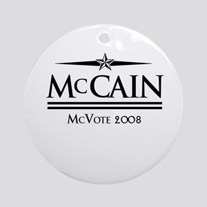 McCain Can Ornament (Round)