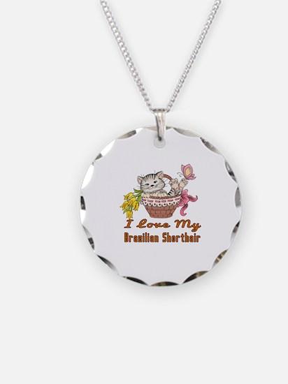 I Love My Brazilian Shorthai Necklace