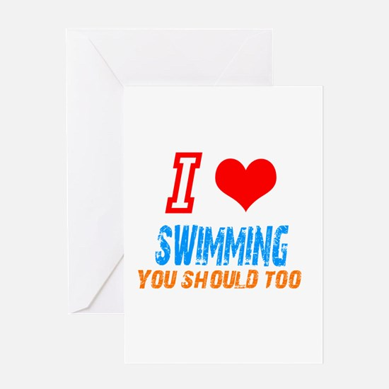 Cute Best swimmer Greeting Card